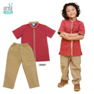 Setelan Baju Koko Anak Little Muslim AFRA - LMK001