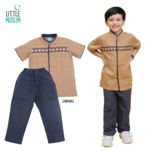 Setelan Baju Koko Anak Little Muslim AFRA - LMK002