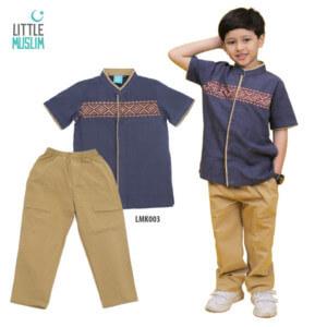 Setelan Baju Koko Anak Little Muslim AFRA - LMK003