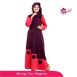 Gamis Dewasa Mutif MTIF - 98C Ungu Tua - Magenta