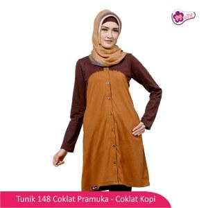 Tunik Dewasa Mutif MTIF - 148A Coklat Pramuka - Coklat Kopi