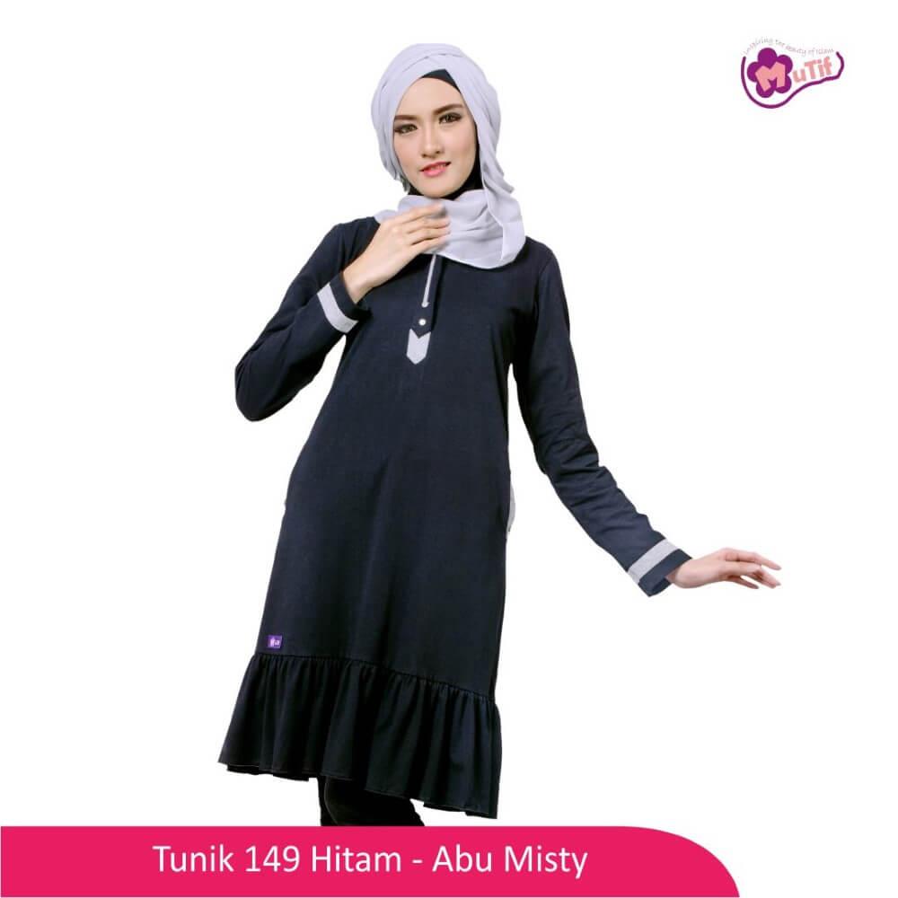 Tunik Dewasa Mutif MTIF - 149A Hitam - Abu Misty 71
