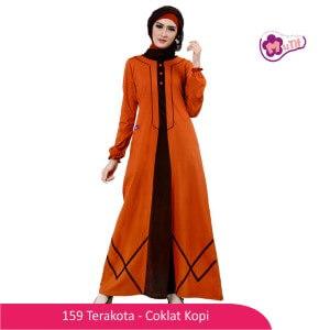 Gamis Dewasa Mutif MTIF - 159A Terakota - Coklat Kopi