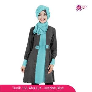 Tunik Dewasa Mutif MTIF - 161A Abu Tua - Marine Blue