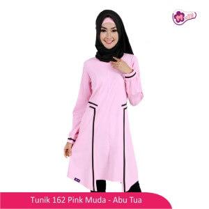 Tunik Dewasa Mutif MTIF - 162C Pink Muda - Abu Tua