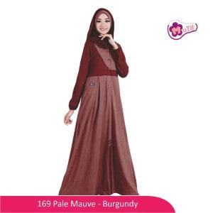 Gamis Dewasa Mutif MTIF - 169E Pale Mauve - Burgundy