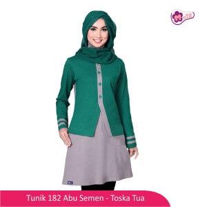 Tunik Dewasa Mutif MTIF - 182B Abu Semen - Toska Tua