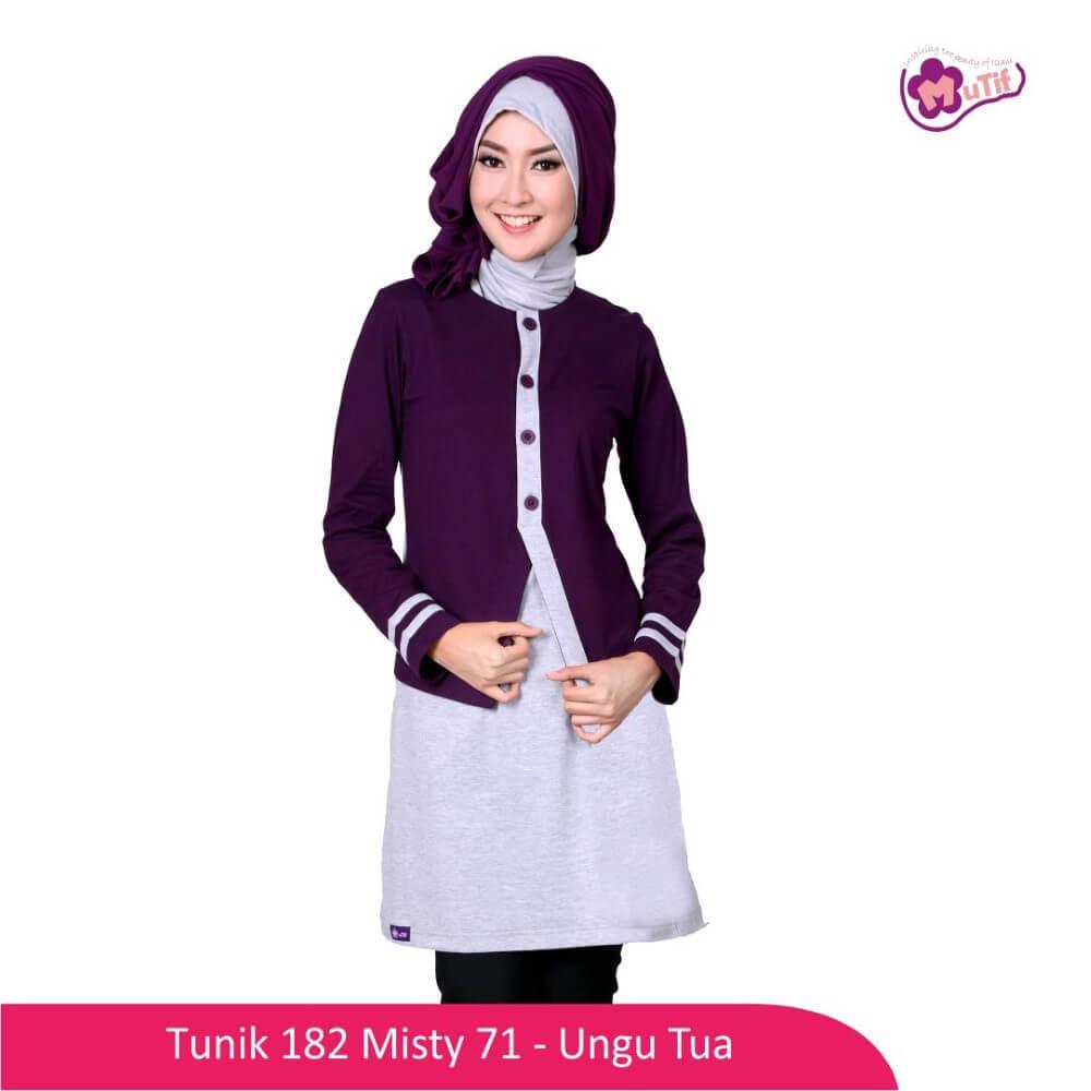 Tunik Dewasa Mutif MTIF - 182A Abu Misty 71 - Ungu Tua