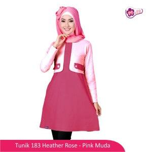 Tunik Dewasa Mutif MTIF - 183A Heather Rose - Pink Muda