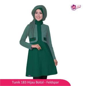 Tunik Dewasa Mutif MTIF - 183B Hijau Botol - Fedspar