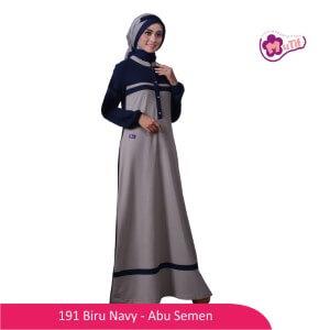 Gamis Mutif MTIF - 191A Biru Navy - Abu Semen
