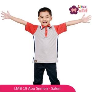 Baju Koko Anak Mutif MTIF - LMB 19A Abu Semen - Salem