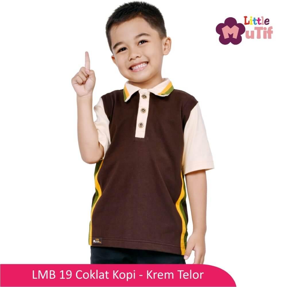 Baju Koko Anak Mutif MTIF - LMB 19C Coklat Kopi - Krem Telor