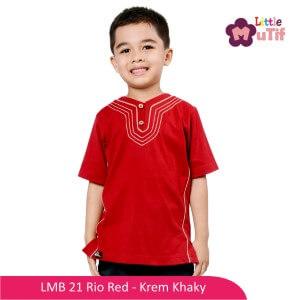 Baju Koko Anak Mutif MTIF - LMB 21A Rio Red - Krem Khaky