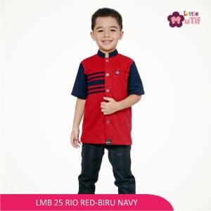 Baju Koko Anak Mutif MTIF - LMB 25A Rio Red - Biru Navy