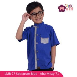 Baju Koko Anak Mutif MTIF - LMB 27B Spectrum Blue - Abu Misty 71