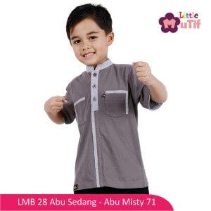 Baju Koko Anak Mutif MTIF - LMB 28A Abu Sedang - Abu Misty 71