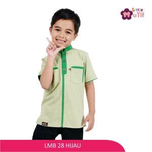 Baju Koko Anak Mutif MTIF - LMB 28C Hijau Pupus - Hijau Fuji