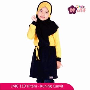 Tunik Anak Mutif MTIF - LMG 119C Hitam - Kuning Kunyit