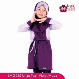 Tunik Anak Mutif MTIF - LMG 119E Ungu Tua - Violet Muda