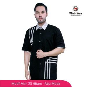 Baju Koko Dewasa Mutif MTIF - MM0023C Hitam - Abu Muda