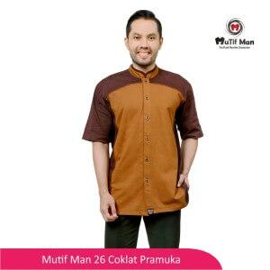 Baju Koko Dewasa Mutif MTIF - MM0026A Coklat Kopi - Coklat Pramuka