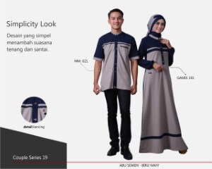 Baju Muslim Mutif Couple Series 19