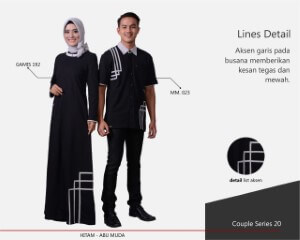 Baju Muslim Mutif Couple Series 20