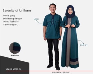 Baju Muslim Mutif Couple Series 21