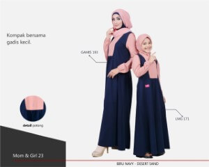 Baju Muslim Mutif Mom Girl 23