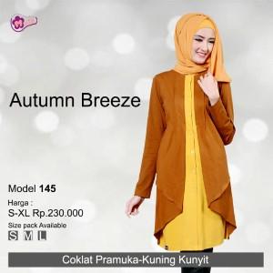 Tunik Mutif MTIF - 145B Coklat Pramuka - Kuning Kunyit