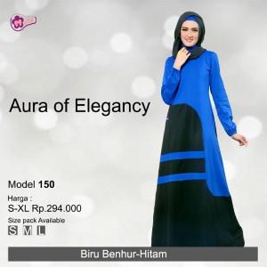 Gamis Mutif MTIF - 150A Biru Benhur - Hitam