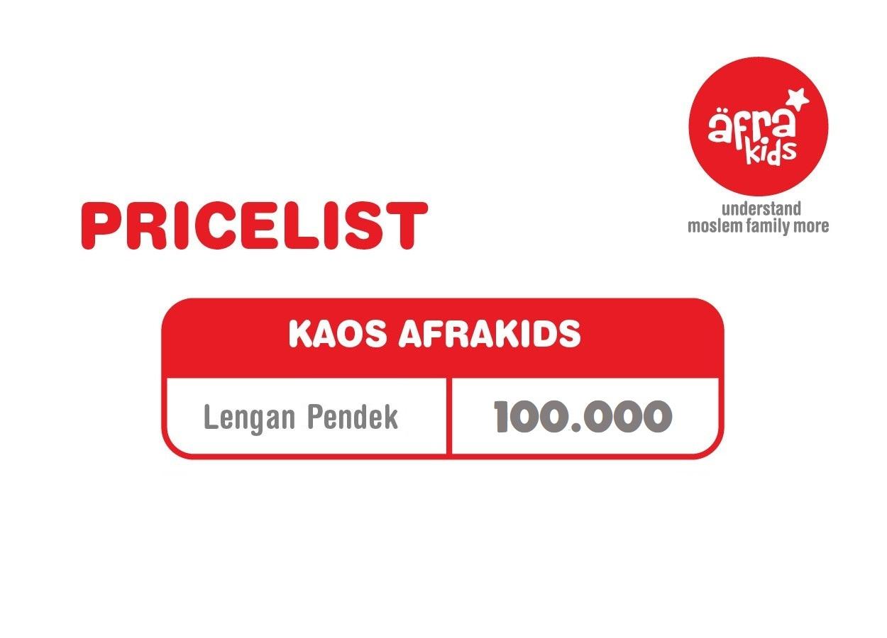 Pricelist Kaos Afrakids Lengan Pendek