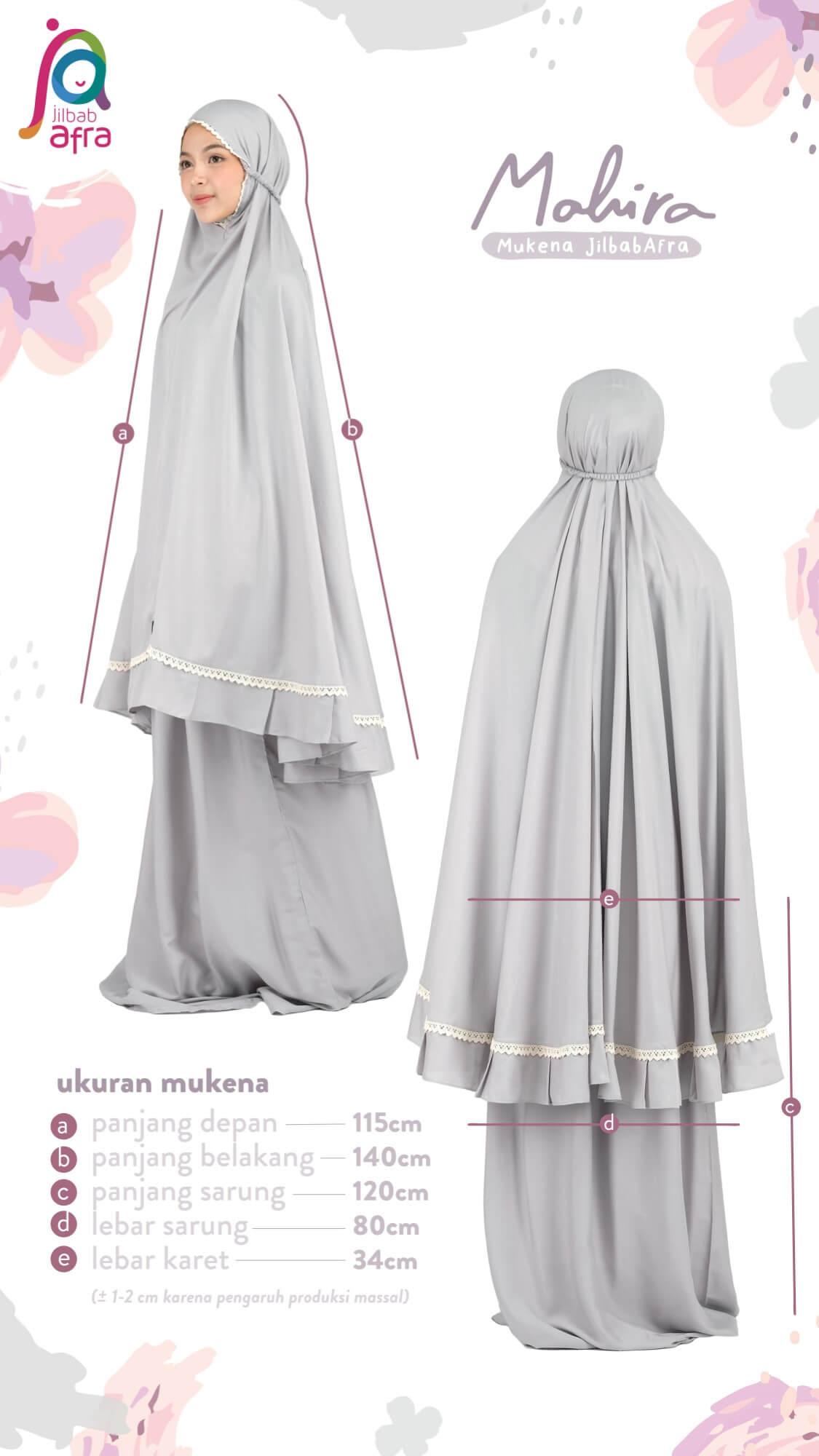 Ukuran Mukena Mahira