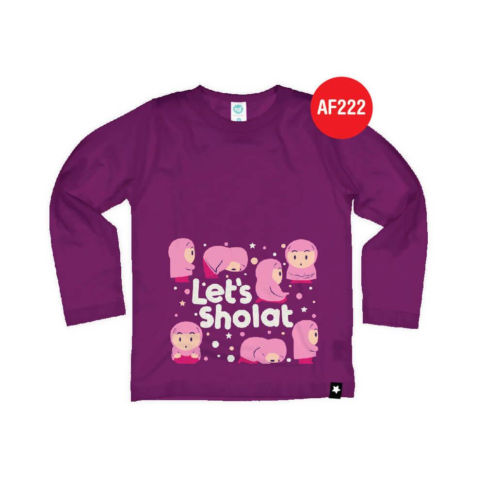 Kaos Anak Muslim Afrakids AFRA - AF222 Let's Sholat
