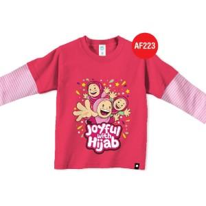 Kaos Anak Muslim Afrakids AFRA - AF223 Joyful With Hijab