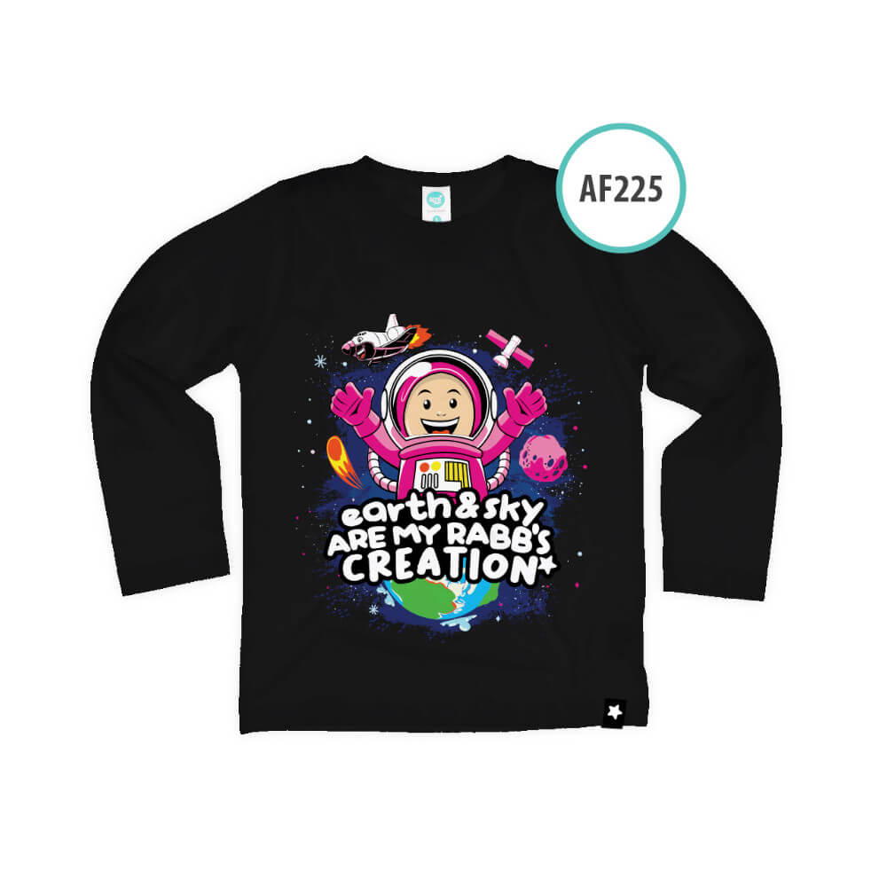 Kaos Anak Muslim Afrakids AFRA - AF225 Earth And Sky Are My Rabb's Creation