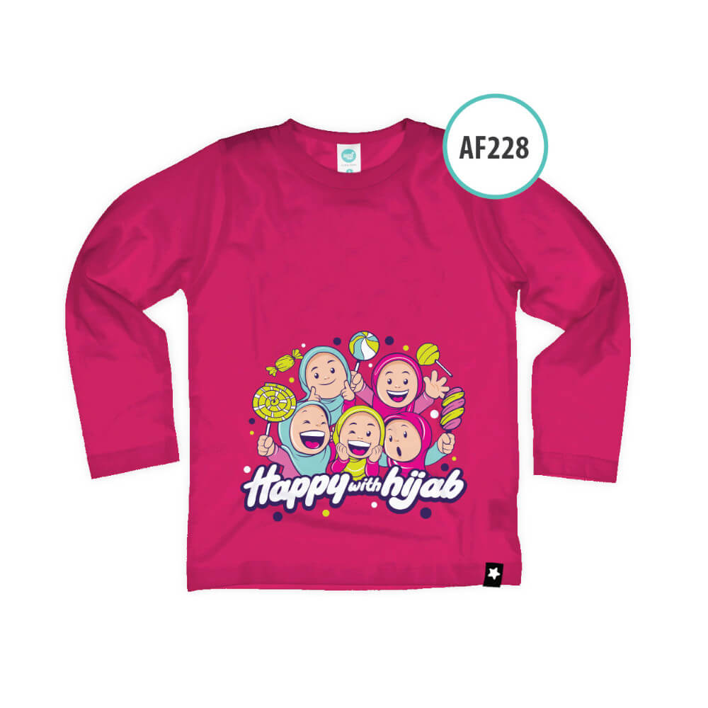 Kaos Anak Muslim Afrakids AFRA - AF228 Happy With Hijab