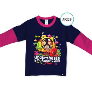 Kaos Anak Muslim Afrakids AFRA - AF229 Under The Sea is My Rabb's Creation