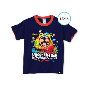 Kaos Anak Muslim Afrakids AFRA - AF235 Under The Sea is My Rabb's Creation