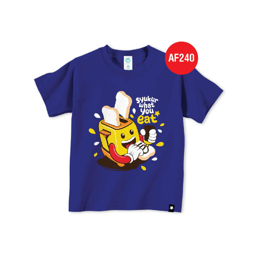 Kaos Anak Muslim Afrakids AFRA - AF240 Syukur What You Eat