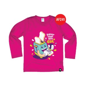 Kaos Anak Muslim Afrakids AFRA - AF241 Syukur What You Eat