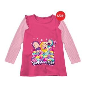 Kaos Tunik Anak Muslim Afrakids AFRA - AF251 Happy With Hijab