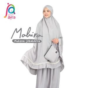 Jilbab Afra Mukena JAFR - Mahira 02 Ash Grey