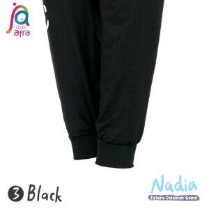 Jilbab Afra Celana Dalaman Gamis JAFR - Nadia 03 Black