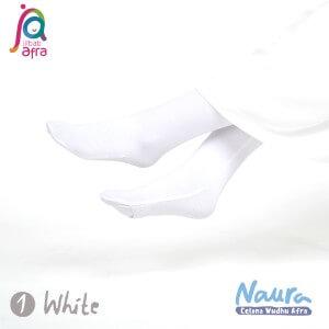 Jilbab Afra Celana Wudhu JAFR - Naura 01 White