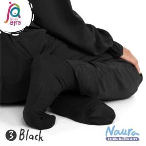 Jilbab Afra Celana Wudhu JAFR - Naura 03 Black