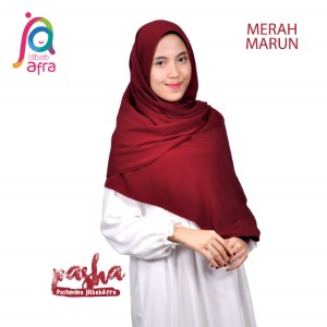 Jilbab Afra Pashmina JAFR - Pasha 11 Merah Marun