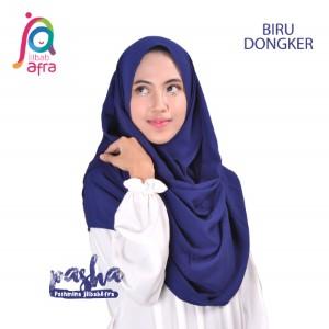 Jilbab Afra Pashmina JAFR - Pasha 13 Biru Dongker