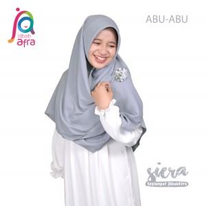 Jilbab Afra Segiempat JAFR - Siera 02 Abu-Abu
